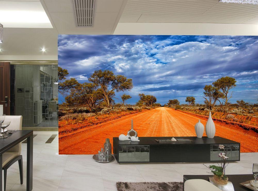 Photo Wallpaper MURAL Outback Road Australia Blue Sky Room
