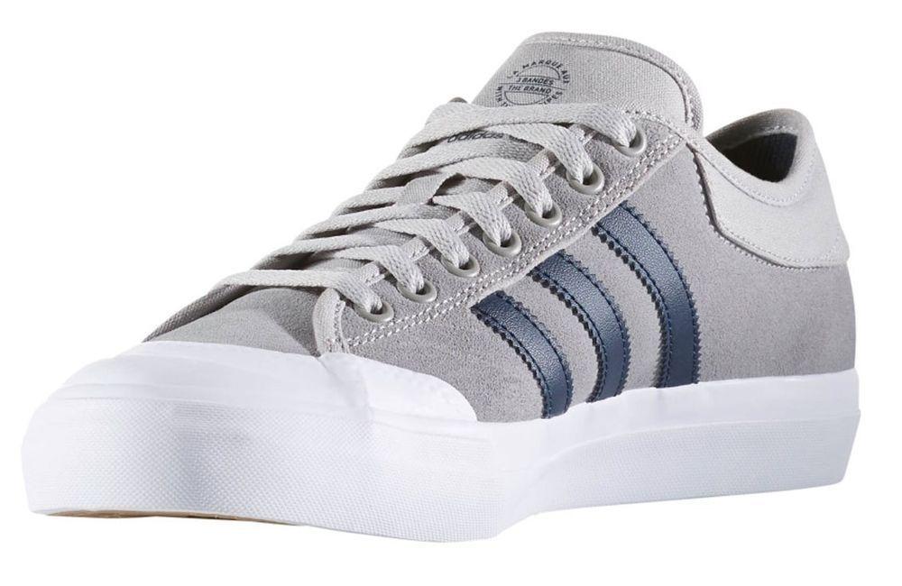 buy online 54bd1 882e4 All White Adidas Skate Shoes  New adidas matchcourt mens skating shoe grey  white navy stripes