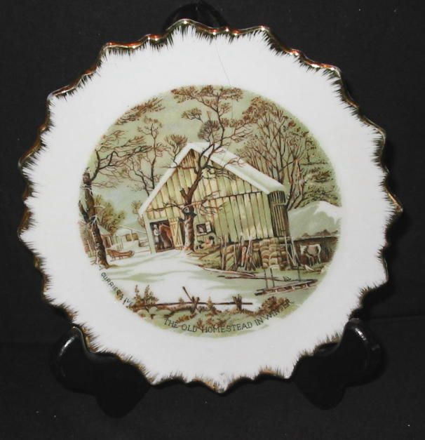 ce189a7eadf4 CURRIER   IVES OLD HOMESTEAD IN WINTER PLATE