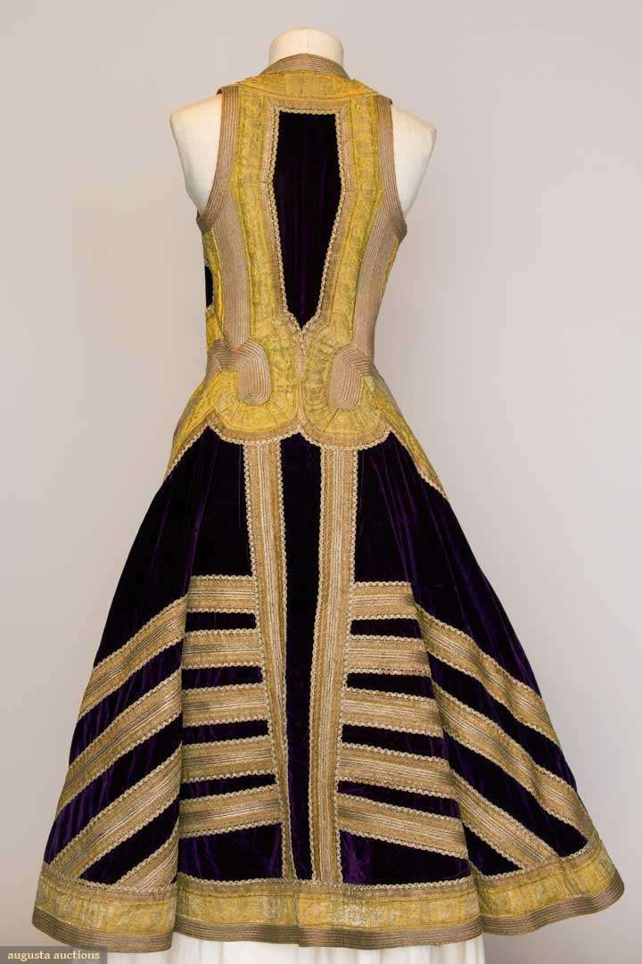 Woman S Gold Embroidered Coat Albania C 1900 Augusta
