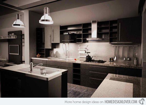 15 Black And Gray High Gloss Kitchen Designs  Gloss Kitchen High Alluring Dark Kitchen Designs Design Inspiration