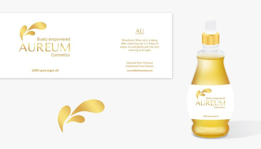 Creating a unique Luxury face and body oil design for new cosmetic line by Roy_UA
