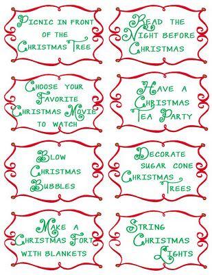 Advent Countdown Calendar Including 100 Activities: FREE Printables - Design Dazzle