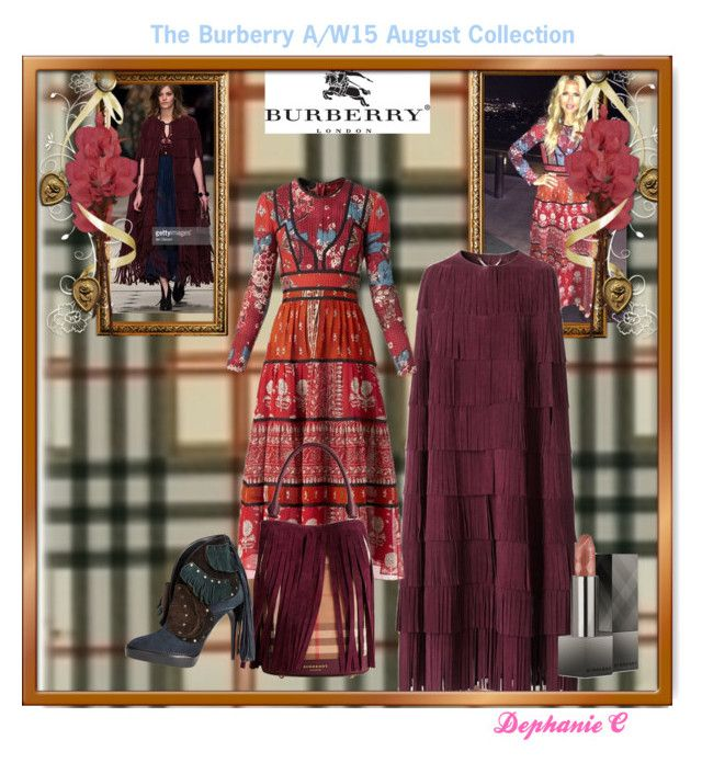 """""""Burberry A/W15"""" by dephaniecaldwell ❤ liked on Polyvore featuring Burberry"""