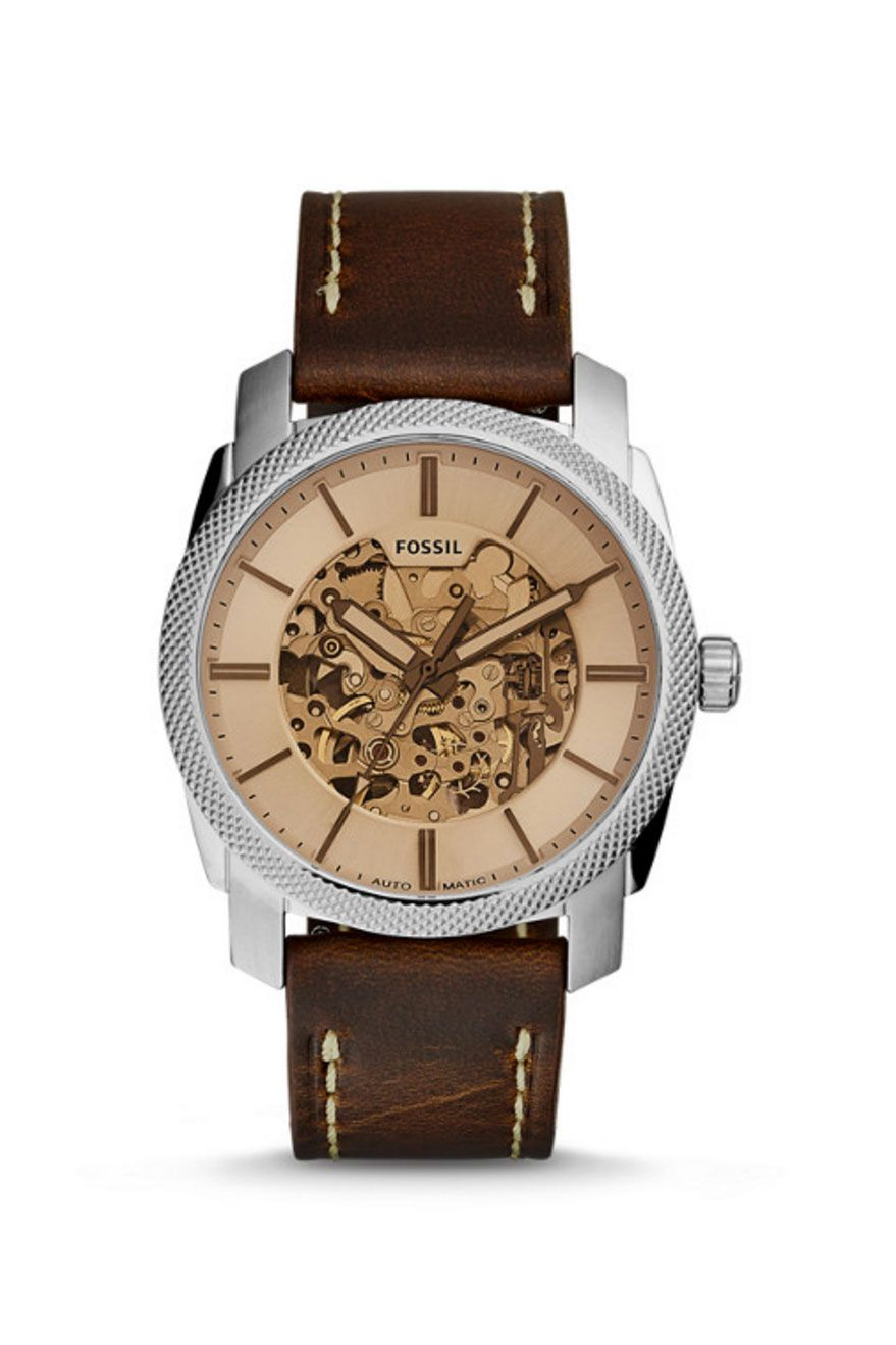 A mechanical watch + a tinted dial = the ultimate mixed material watch for him!
