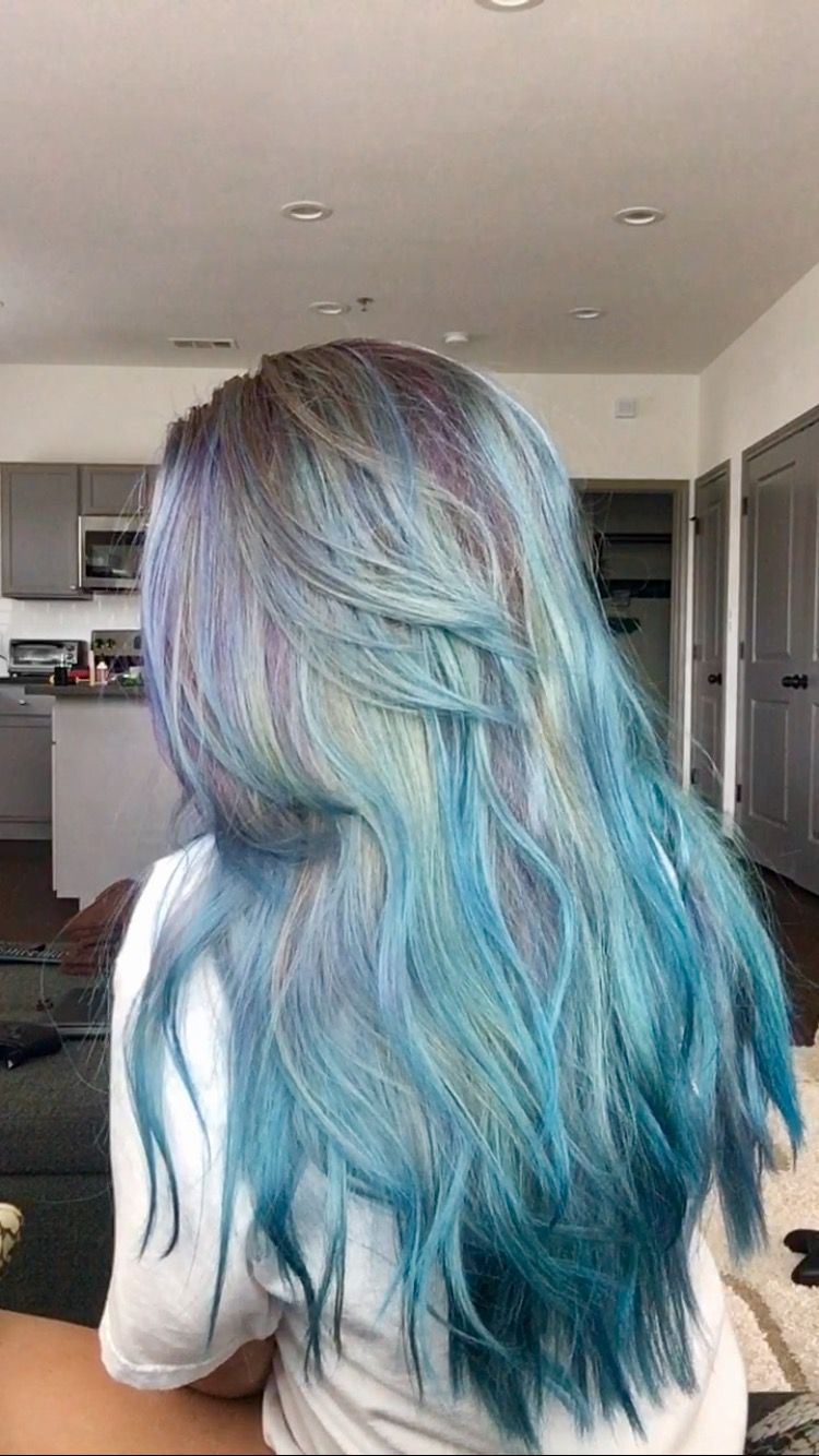 I did this myself used argan oil hair color aqua neon blue and i did this myself used argan oil hair color aqua neon solutioingenieria Images