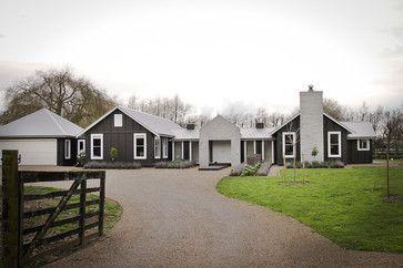 One Story Modern Barn House