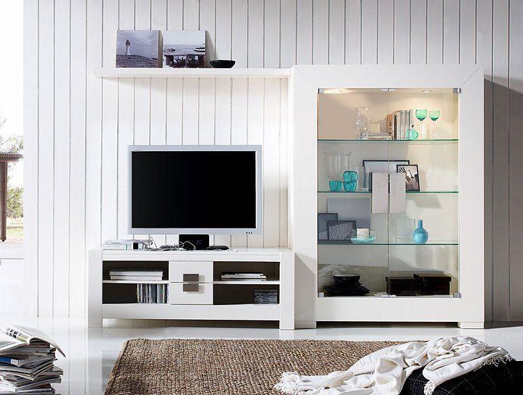 Composici n para sal n bari de expormim mueble tv con for Salones con vitrinas