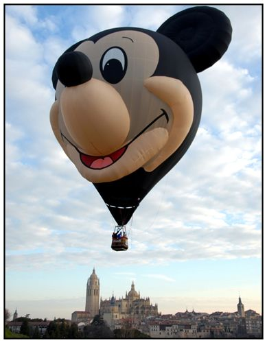 Mickey Mouse hot air balloon.