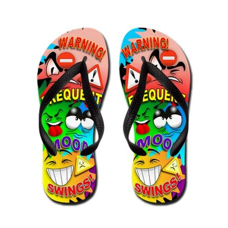 ca0f99793325 Decorate Flip Flops · ❇  Warning! Frequent  Mood  Swings  Cartoon  Faces   Flip Flops ❇