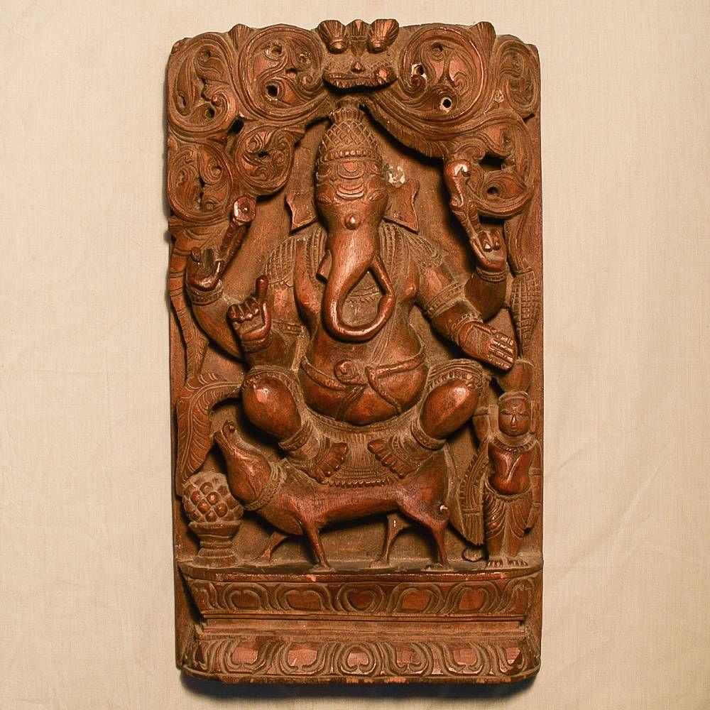 Wooden Handicrafts Wooden Wall Hanging Ganesh Ji Sculpture