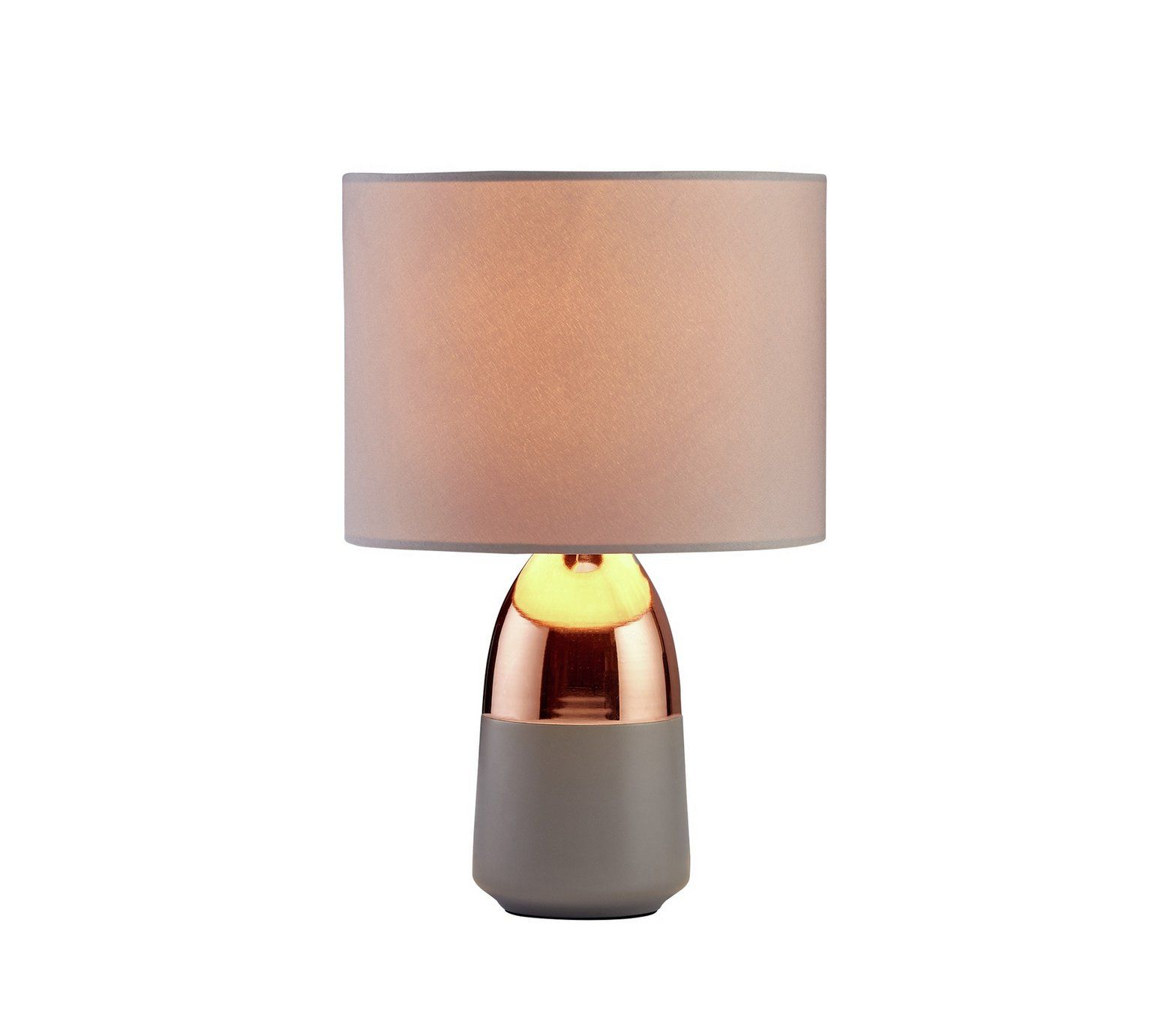 Buy Argos Home Duno Touch Table Lamp Grey Copper Table Lamps Grey Table Lamps Table Lamp Copper Table Lamp