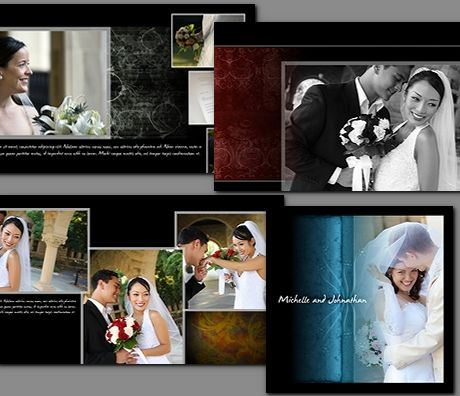 Wedding album templates starting at albums for Wedding photo album templates in photoshop