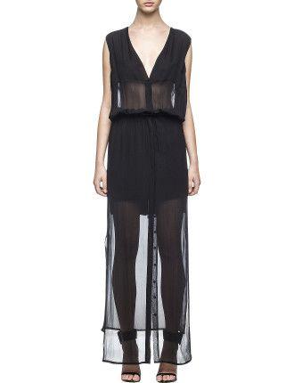 Sheer Button Up Dress $73.08
