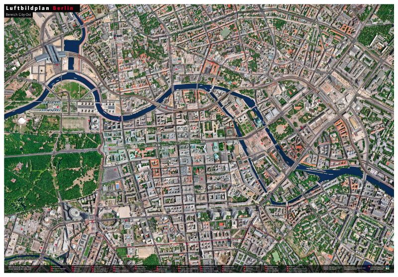 Luftbildplan Berlin – Bereich City-Ost (gefaltet) | Berlin ...
