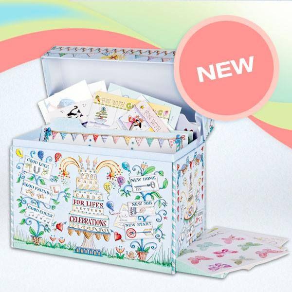 Organiser Box Cards And Gift Wrap Organiser Box Organization Greeting Card Organizer