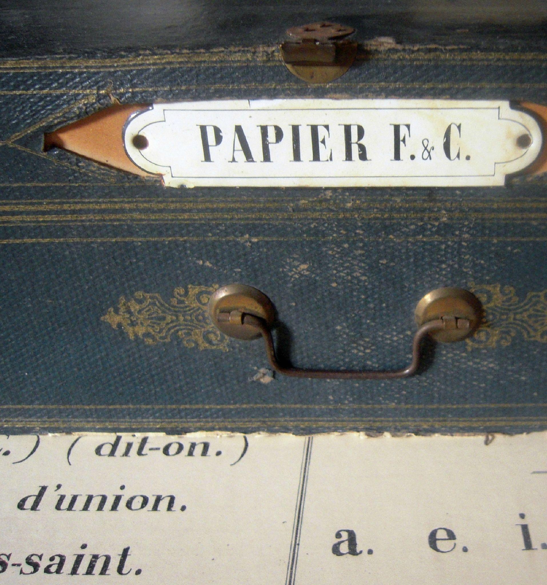 Plaque émaillée papeterie  Signes français, Plaque emaillee, Déco