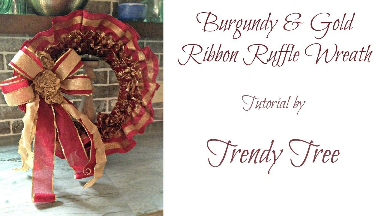Photo of Ruffled Ribbon Wreath Tutorial