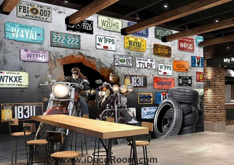 3d Motorbikes Breaking Through Cement Wall With Several Car Images, Photos, Reviews