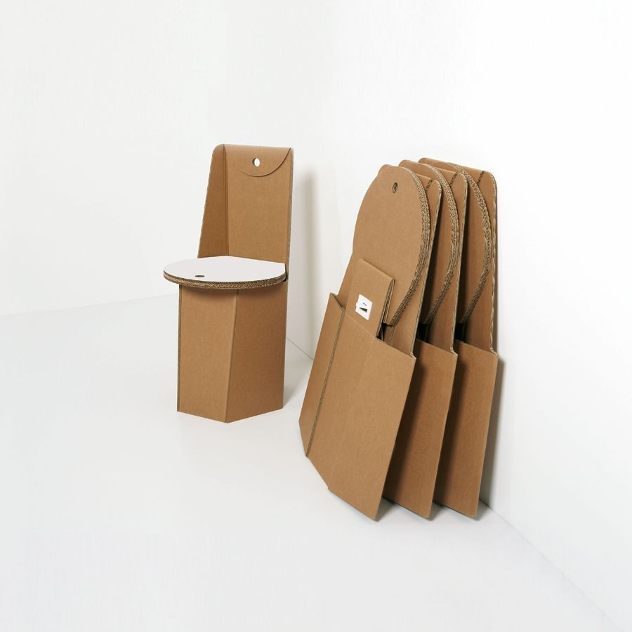 Sedute di cartone pieghevoli design product for Sedute di design
