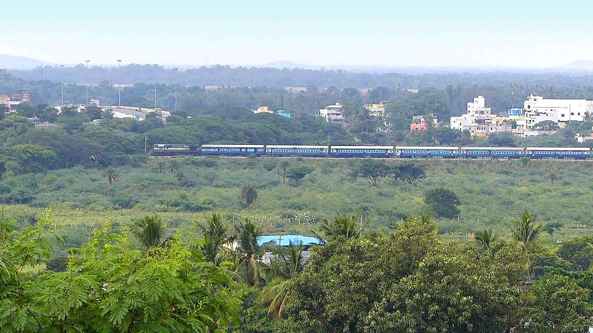 Aerial View of INDIAN TRAIN : Indian Railways Video - Catch