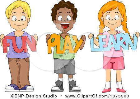 Clipart Cute Diverse School Children Holding Fun Play Learn Paper Cutouts Royalty Free Vector Illustration By Bnp Design St Kids School Cartoon Kids Children