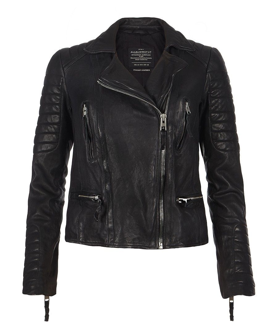 allsaints pitch leather biker jacket womens leather. Black Bedroom Furniture Sets. Home Design Ideas