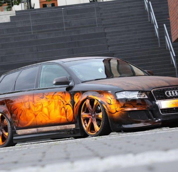 Schön geschnitzt: Audi A4 in Holz-Optik -...