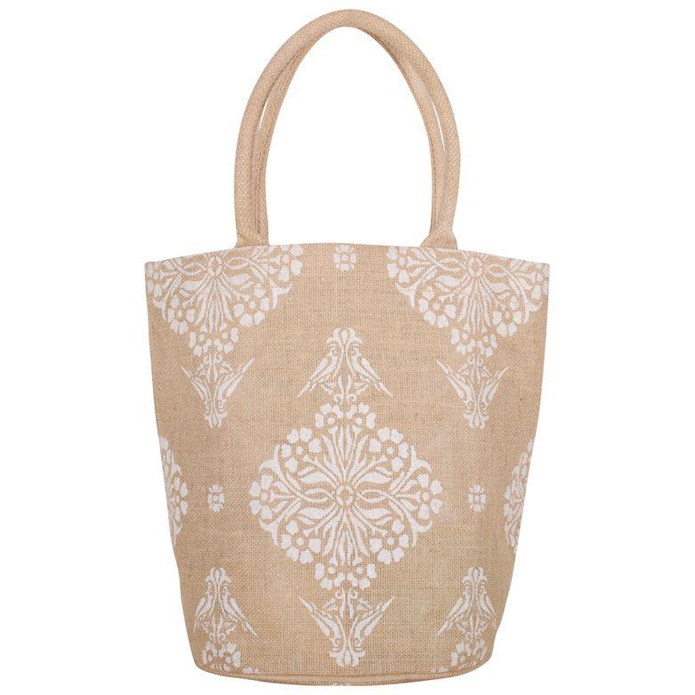 Indian Print Bucket Bag Bags, Bucket bag, Jute bags