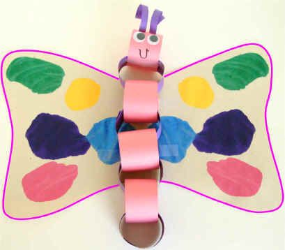dltks crafts for kids paper chain butterfly this is a fun simple craft for all - Dltk Crafts For Kids