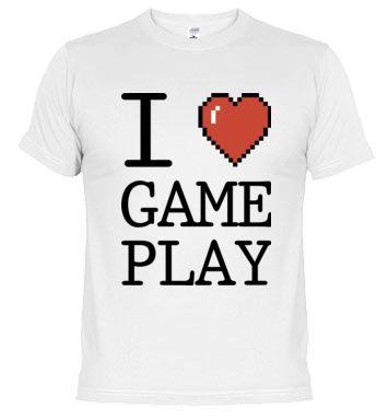 Camiseta I Love GamePlay el rubius, willyrex, mangel, vegeta 777