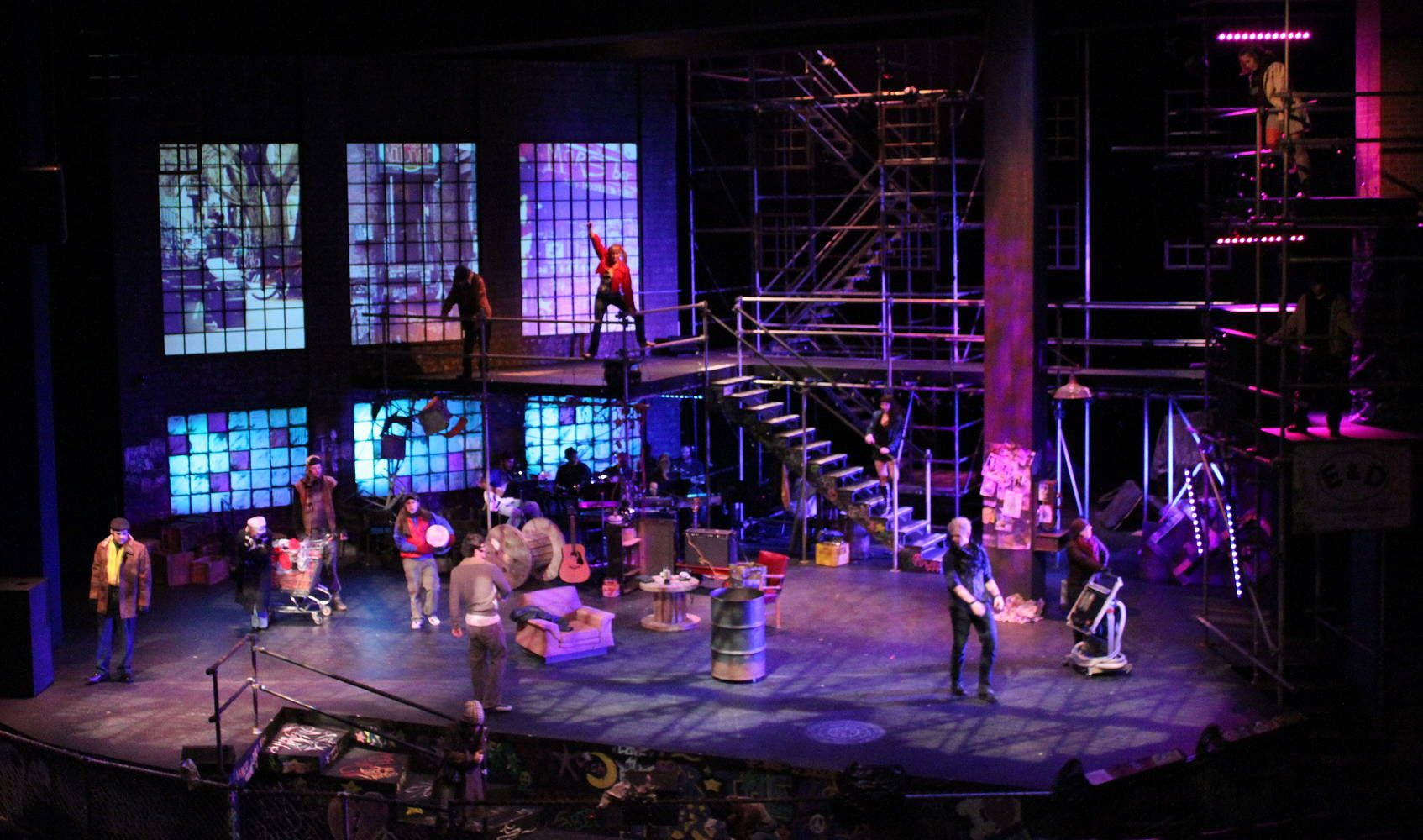 Set Design For Rent The Musical Google Search Theatre Set Scenic Design Rent Musical
