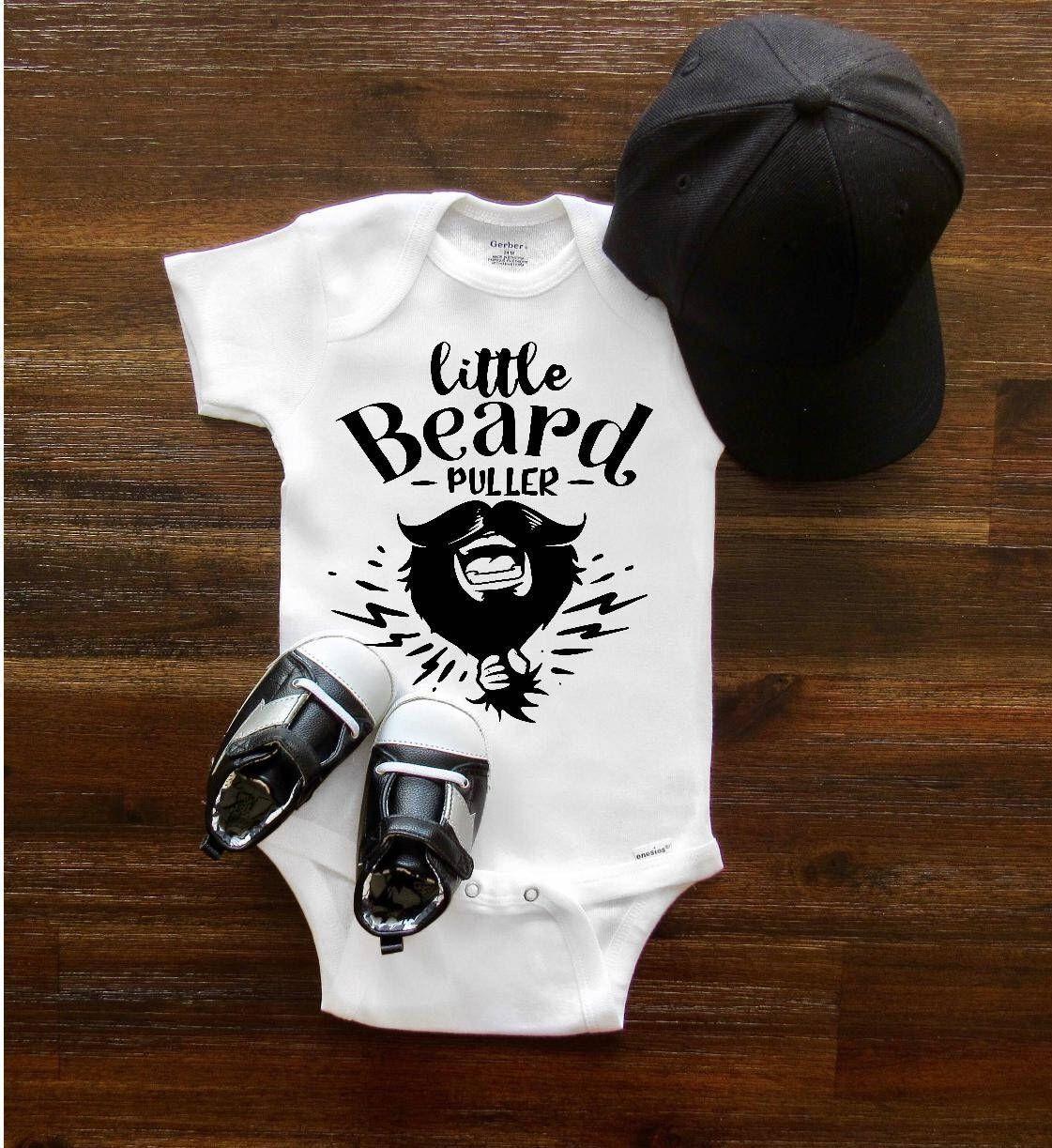 9da8261cf1a1 Baby Onesie® Little Beard Puller Baby Shower Gift Bearded Dad baby girl baby  boy funny