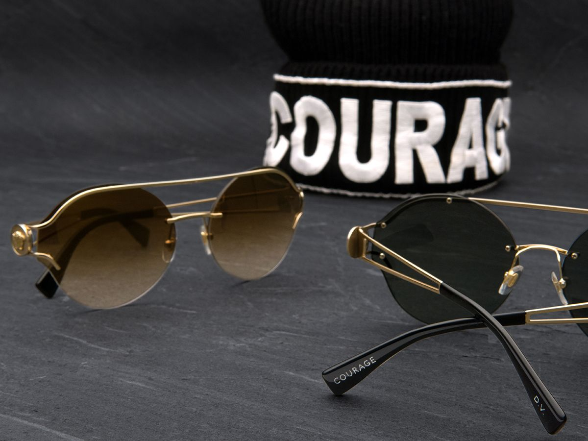 466a672015 Live out loud in these courageous new frames from Versace. And don t forget  to put your own custom engraving on them too.