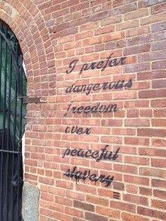 Dangerous Freedom Vs Peaceful Slavery Slavery Peace Freedom
