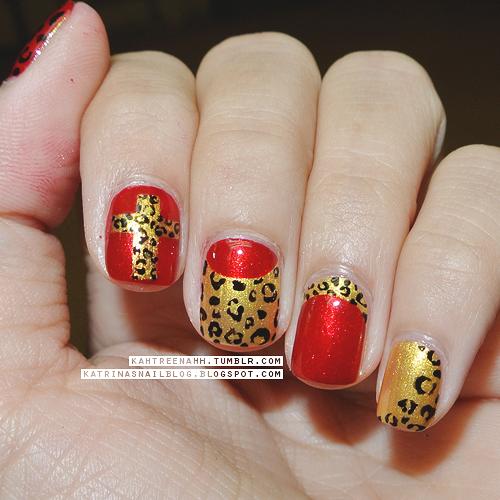 nail art animal print