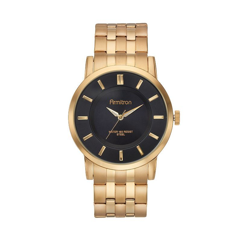 Armitron Men's Gold Tone Stainless Steel Watch (Yellow)