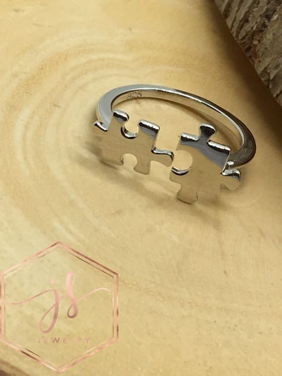 Dainty Puzzle-925-Sterling Silver-Ring by JESSANDSAL on Etsy