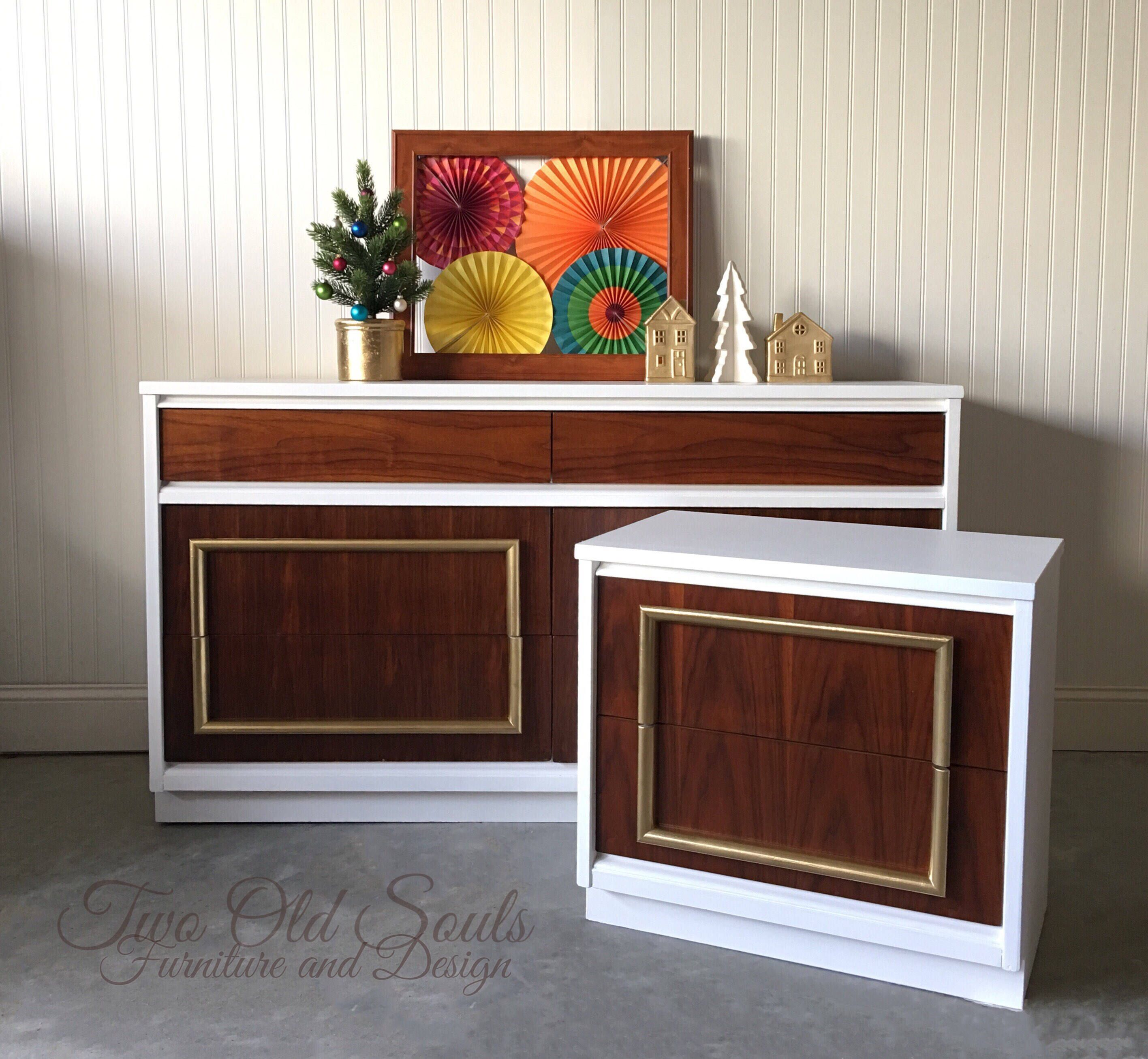 Best Gorgeous Mcm Bedroom Set With Lowboy And Nightstand 400 x 300