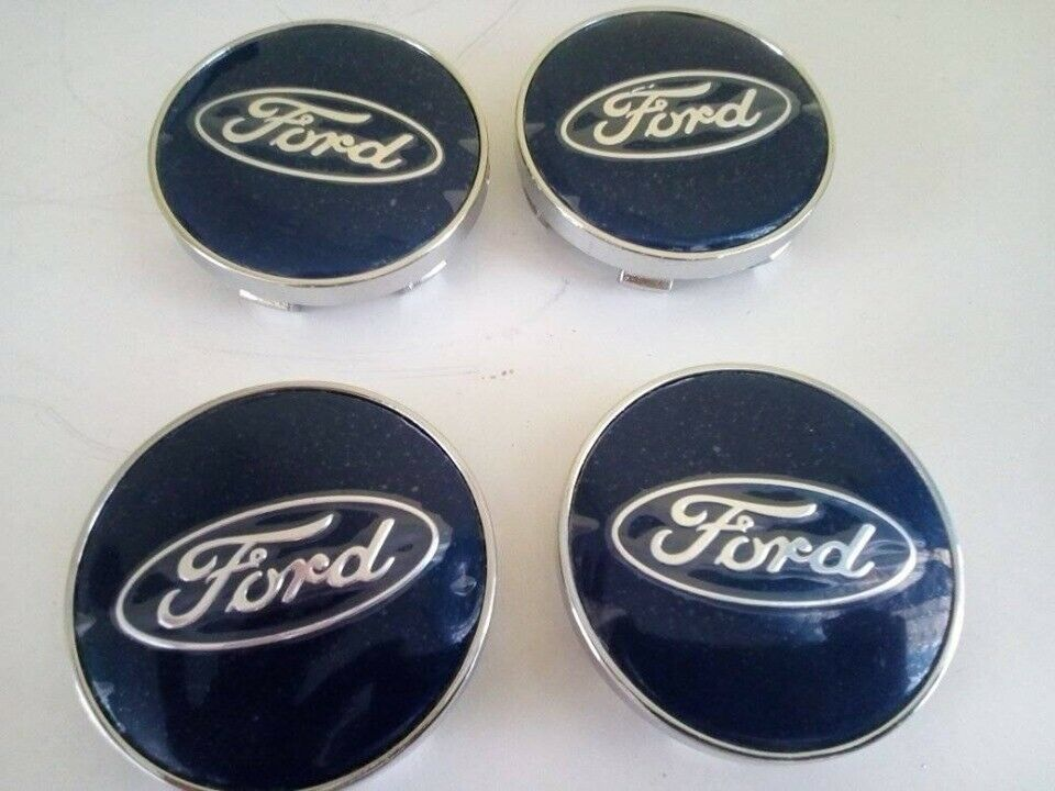 Ford Wheels Centre Caps 60mm Blueto Fit Ford Focus Ka Fiesta Kuga