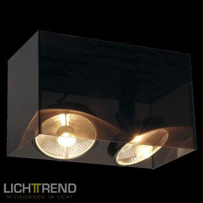 Licht Skapetze licht trend deckenleuchte box 2 flammig 30x15 cm schwarz bei