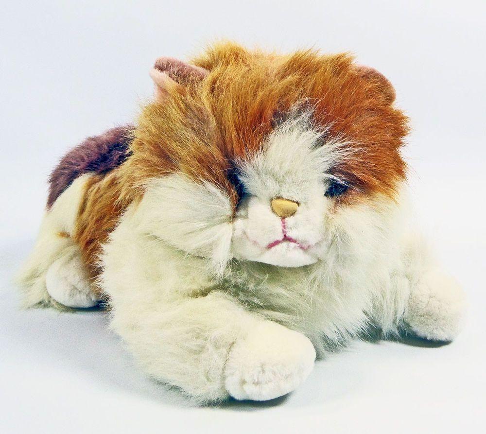 Large Calico Persian Cat Kitty Plush Stuffed Animal