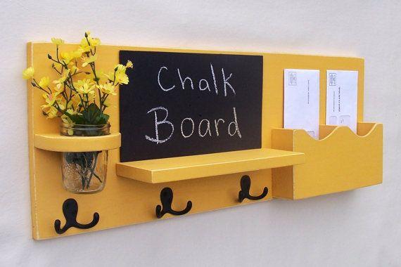 Chalkboard Mail Organizer Mason Jar Mail And Key Holder Chalk