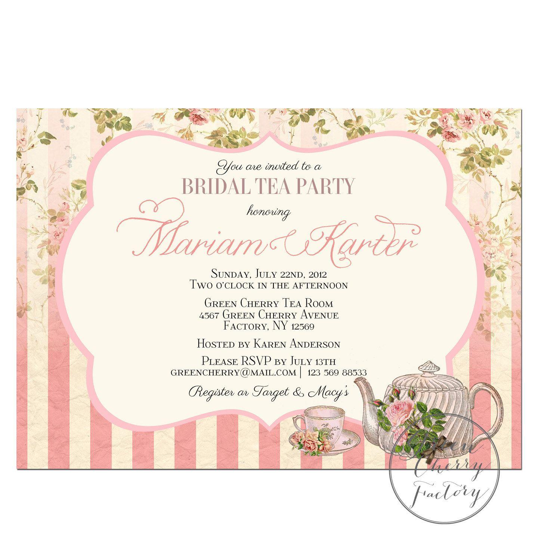 Terrific Tea Party Bridal Shower Gift Ideas label Bridal Party ...