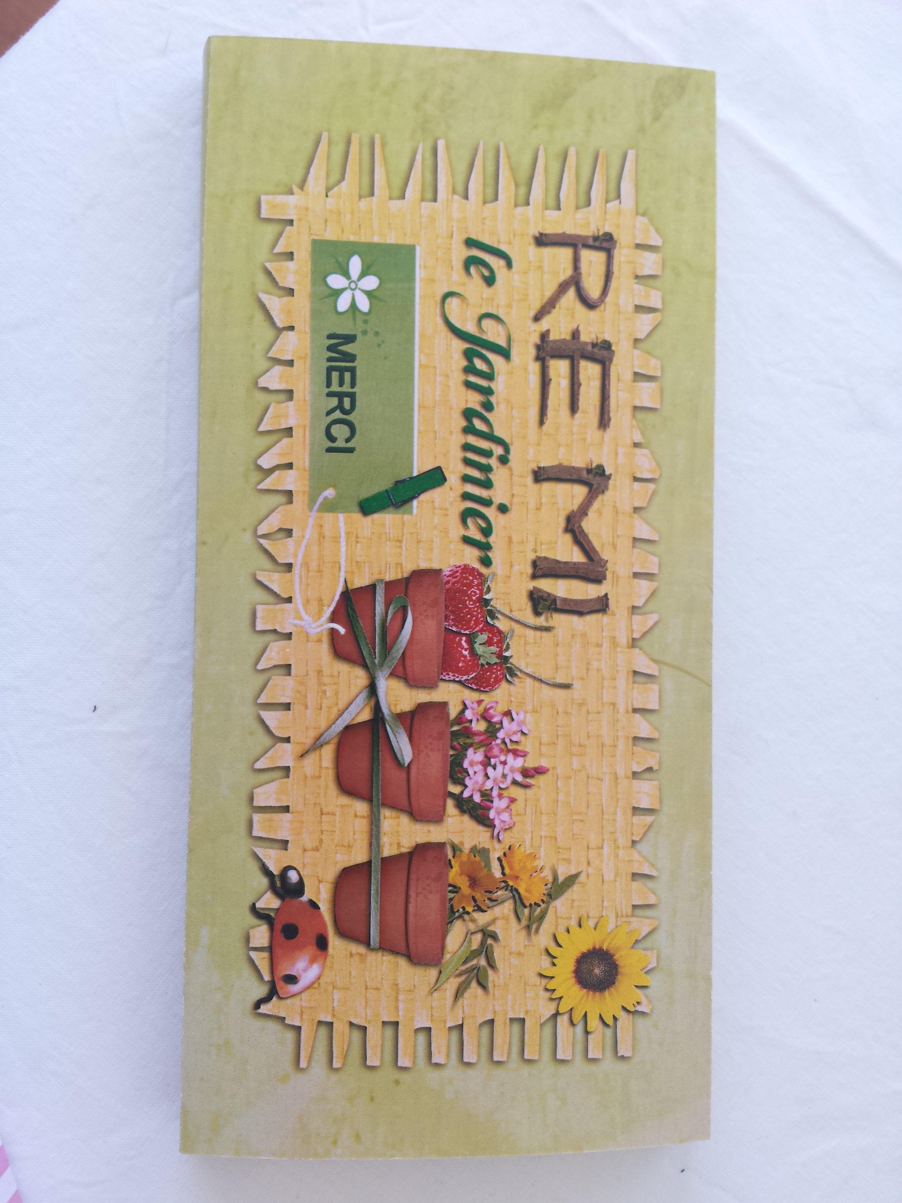 Jaquette plaque de chocolat réalisée avec Studi-Scrap 5