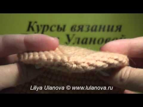 Прочные носки крючком 2 часть - Durable socks crochet - YouTube