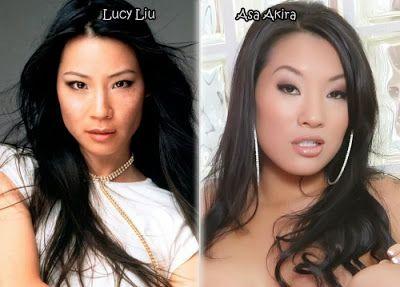 black porn stars celebrity - stars et leurs sosies porno lucy liu asa akira Stars et leurs sosies porno  3 stars
