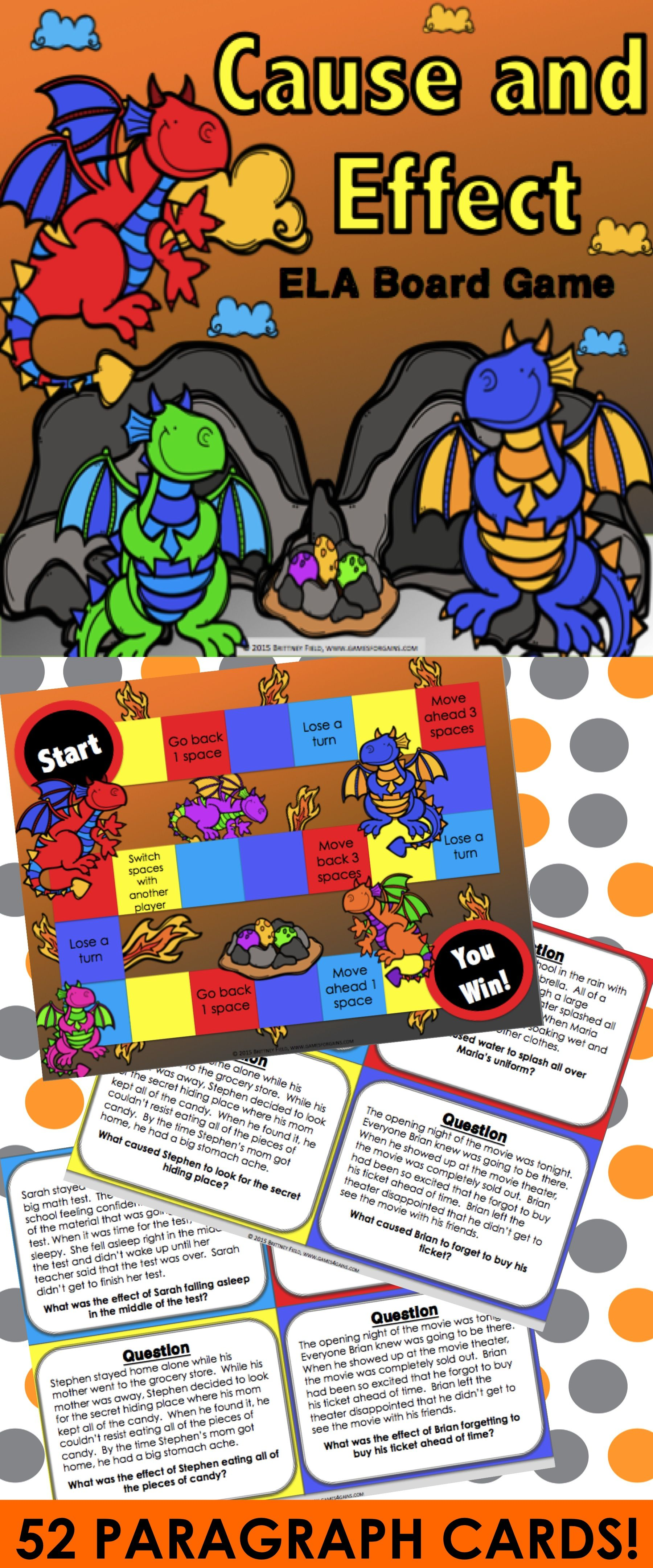 Cause And Effect Task Cards Game Reading Comprehension