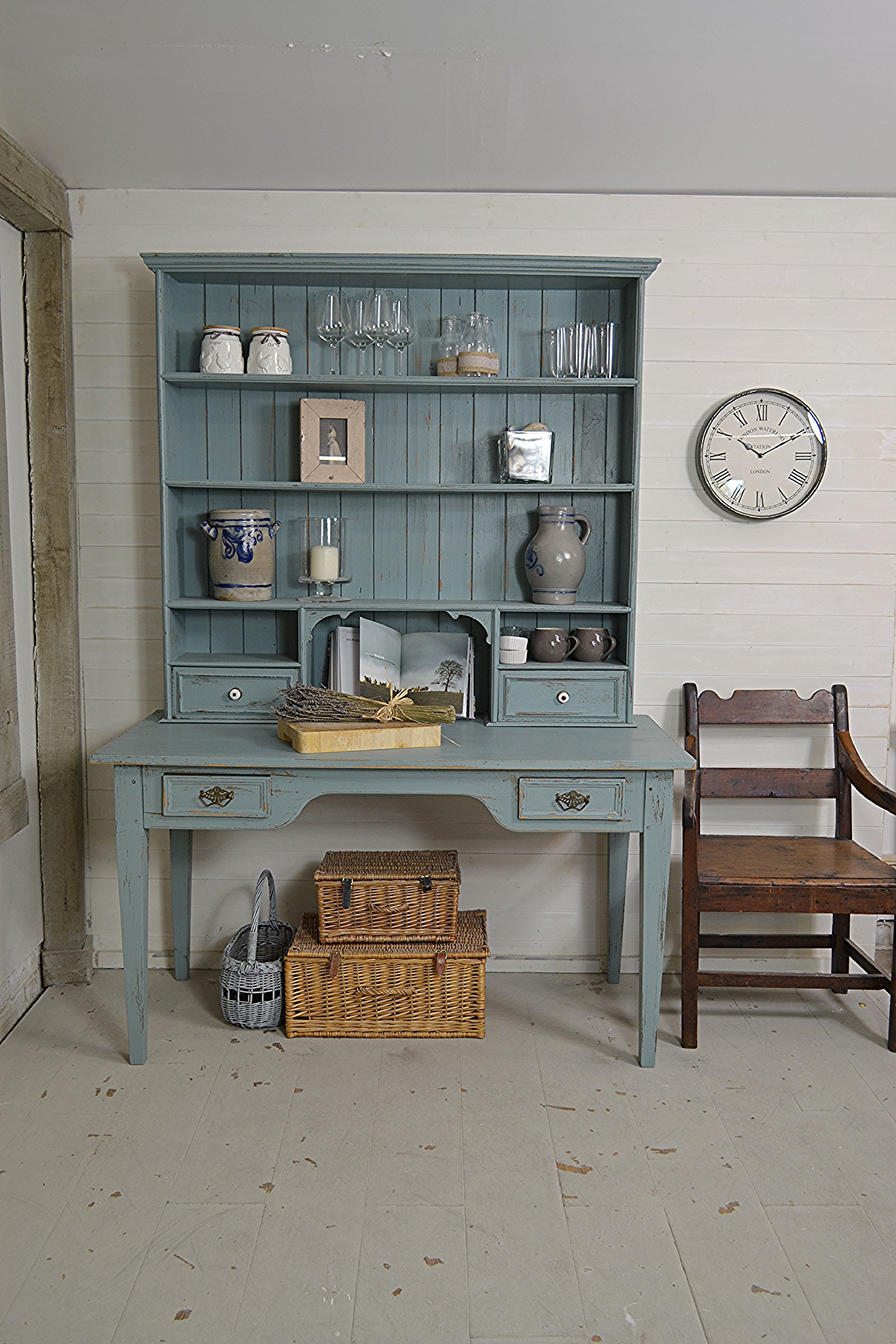 Antique French Shabby Chic Table Dresser In F B Oval Room Blue