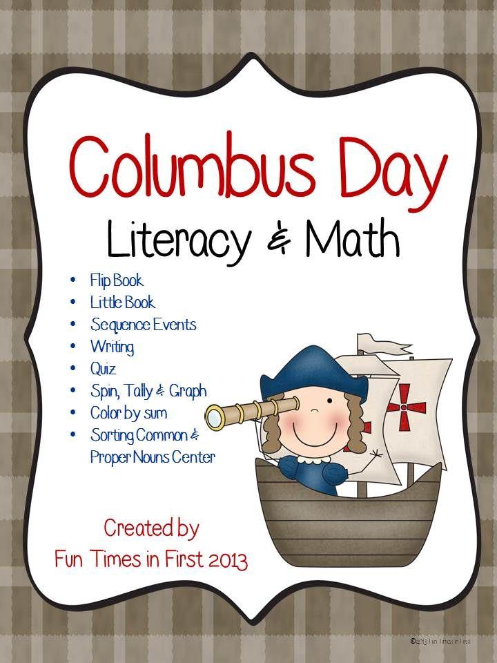 Columbus Day Activities Math Literacy Teaching Elementary School Literacy Columbus Day